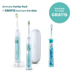 Philips obiteljski set električnih četkica za zube Sonicare Healthy White duo HX6732/37 + Kids HX6311/07