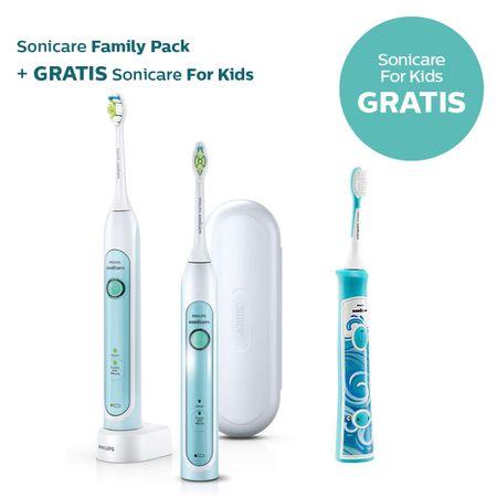 Philips družinski set električnih ščetk Sonicare Healthy White duo HX6732/37 + Kids HX6311/07