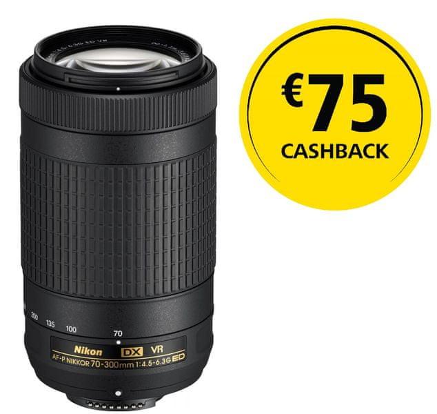 Nikon Nikkor 70-300MM F/4.5-6.3G ED AF-P DX VR + 2000 Kč od Nikonu zpět!