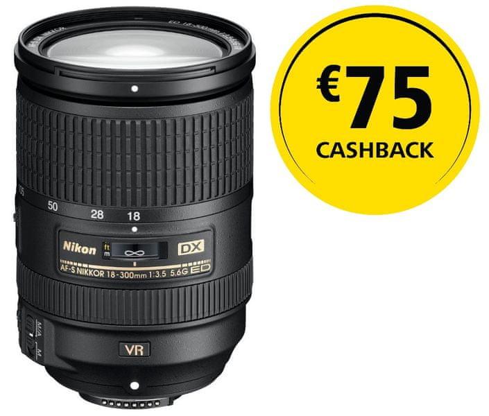 Nikon Nikkor 18-300mm / F3,5-5.6 AF-S DX ED VR + 2000 Kč od Nikonu zpět!