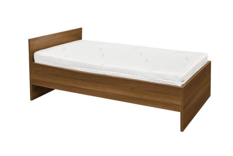 MALL Set Lamino postel OŘECH + skládací rošt + matrace Relaxdream Galaxy