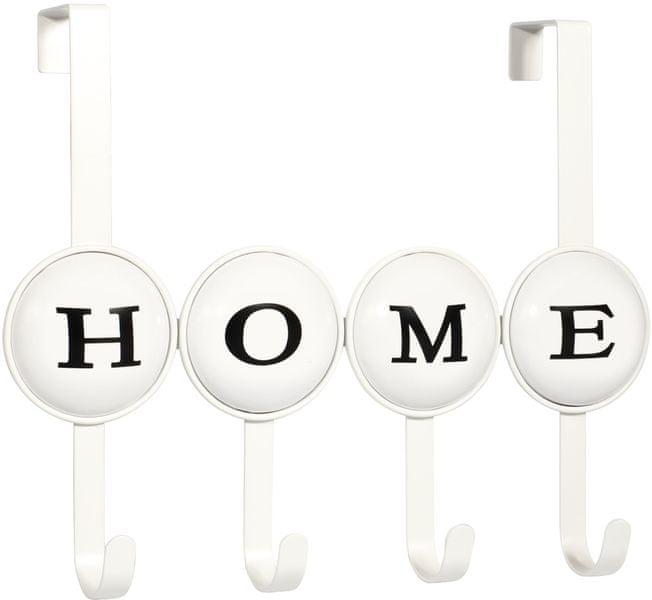 TimeLife Věšák na dveře Home, 4 háčky, bílá