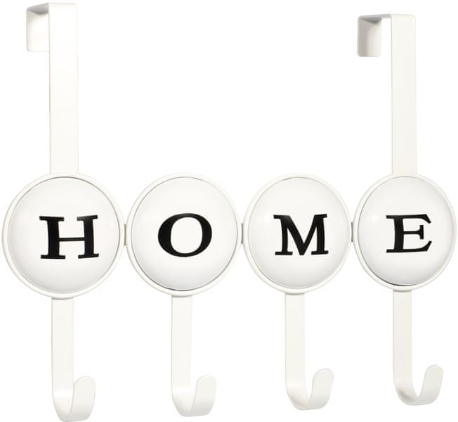 Time Life Věšák na dveře Home, 4 háčky, bílá