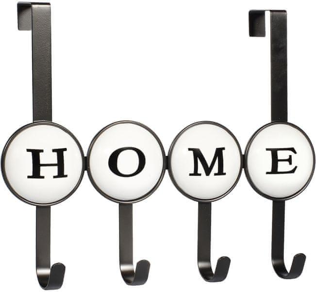 Time Life Věšák na dveře Home, 4 háčky, černá