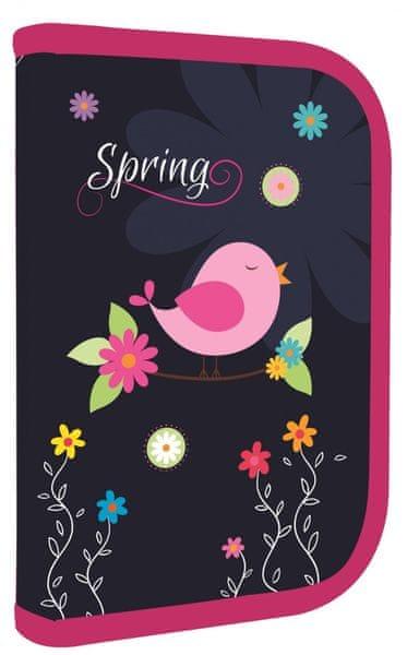 Karton P+P Penál 1 patrový 2 klopy Premium Spring