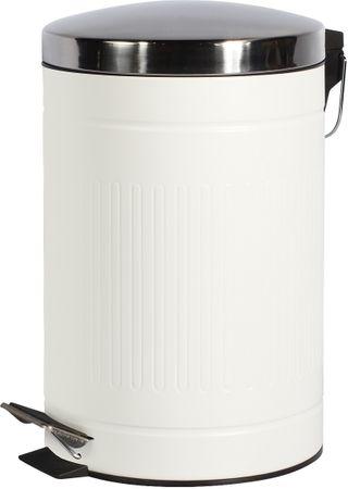 TimeLife Kosz na odpady stal 12 l, biały