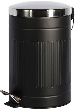 TimeLife Kosz na odpady stal 12 l, czarny