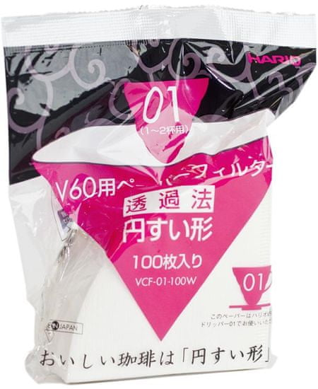 Hario papírové filtry pro V60-01 200 ks