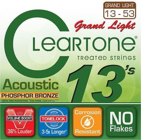 Cleartone 7433 Kovové struny na akustickú gitaru