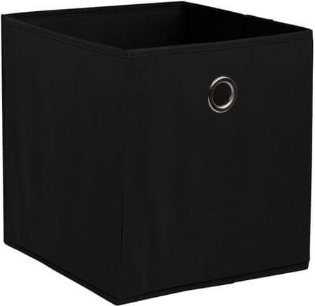 TimeLife Skladovací box 28 x 26,5 cm, čierna