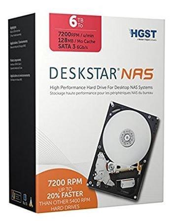 HGST trdi disk NAS 6TB, 7200 obratov SATA 3, 6Gb/s, 128MB