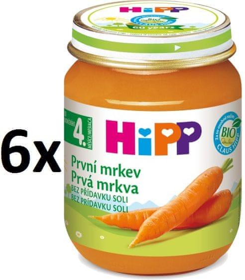HiPP BIO První mrkev - 6 x 125g