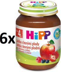 HiPP Jablká s lesnými plodmi - 6 x 125g