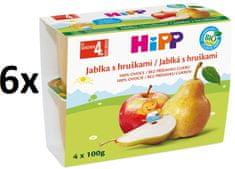 HiPP BIO Jablka s hruškami - 6x(4x100g) exp. březen 2019