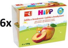 HiPP BIO Jablka s broskvemi - 6x(4x100g) exp. únor 2019