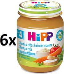HiPP Zeleninová omáčka s ryžou a kuraťom-6x125g