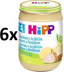 HiPP Brambory s králičím a fenyklem - 6x190g