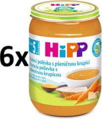 HiPP Kuřecí polévka s pšeničnou krupicí - 6x190g