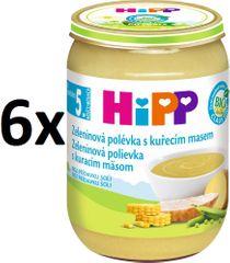 HiPP Zeleninová polévka s kuřecím masem - 6x190g