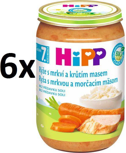 HiPP BIO Rýže smrkví a krůtím masem - 6x220g