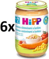 HiPP Zelenina s cestovinami a šunkou - 6x220g