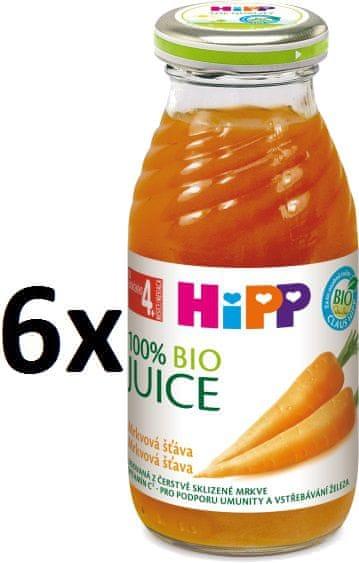 HiPP BIO Mrkvová šťáva - 6x200ml