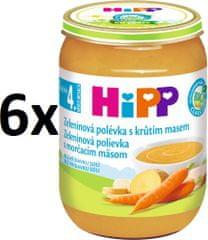 HiPP Zeleninová polévka s krůtím masem - 6x190g