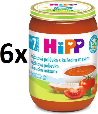 HiPP Rajčatová polévka s kuřecím masem - 6x190g