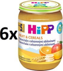 HiPP BIO Ovocná kaša s celozrnnými obilovinami - 6 x 190 g