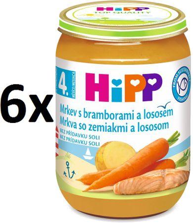 HiPP Karotka so zemiakmi a lososom - 6 × 190g