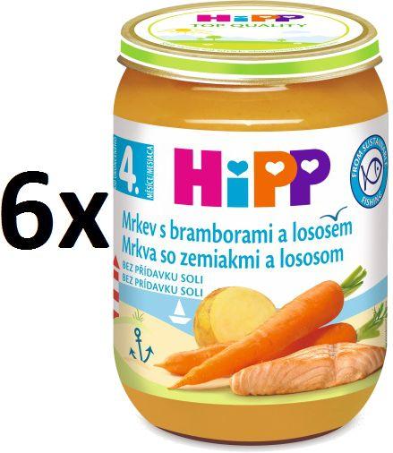 HiPP Karotka s bramborami a lososem - 6 × 190g