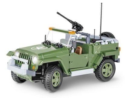 Cobi SMALL ARMY JEEP Wrangler vojenský