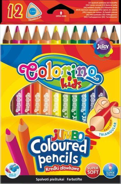 Pastelky trojhranné Colorino JUMBO 12 barev