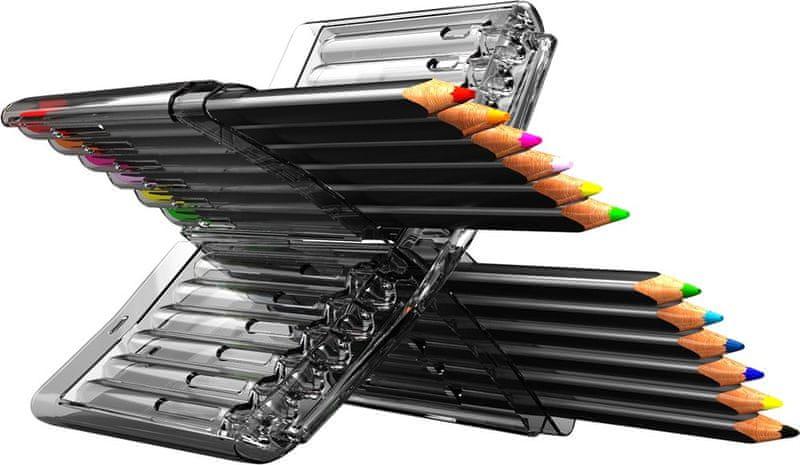 Pastelky trojhranné Y-Plus x-color 12 barev plastové pouzdro