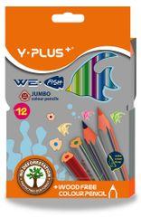 Pastelky trojhranné Y-Plus We fish JUMBO 12 barev