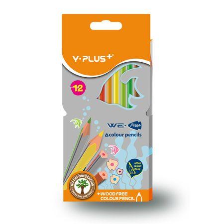 Pastelky trojhranné Y-Plus We fish 12 barev