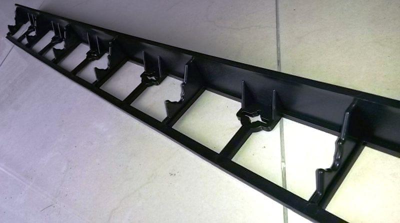 Neviditelný obrubník Ozy-board 45 černý, 1000 x 45 x 80 mm