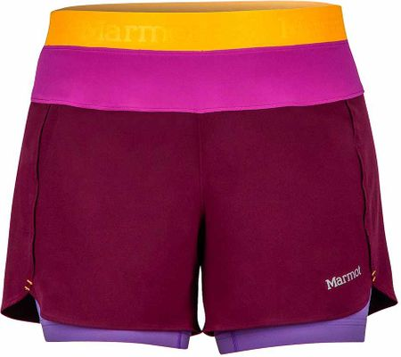 Marmot spodenki Wm's Pulse Short Deep Plum/Neon Berry S