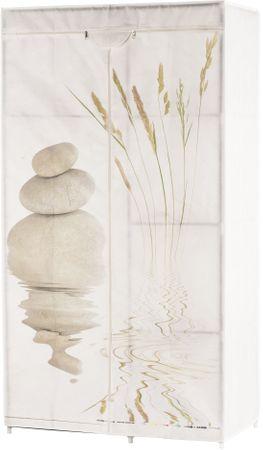 TimeLife Šatníková skriňa 88x160 cm, kameň