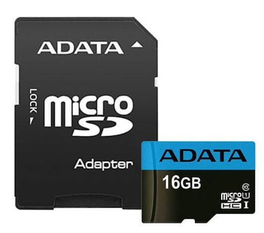 Adata microSDHC 16GB Premier UHS-I s adaptérem (AUSDH16GUICL10 85-RA1)