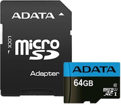 Adata microSDXC 64GB Premier UHS-I s adaptérem (AUSDX64GUICL10 85-RA1)