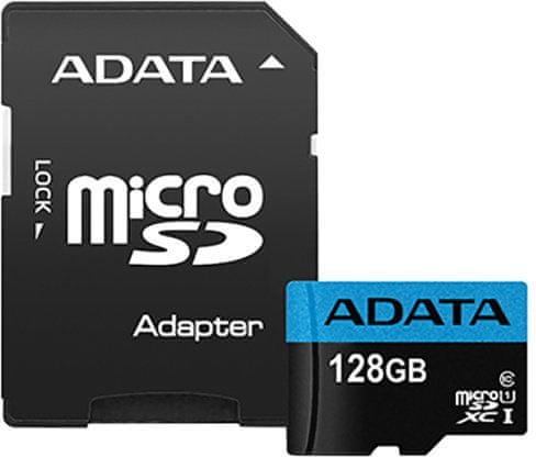 Adata microSDXC 128GB Premier UHS-I s adaptérem (AUSDX128GUICL10 85-RA1)