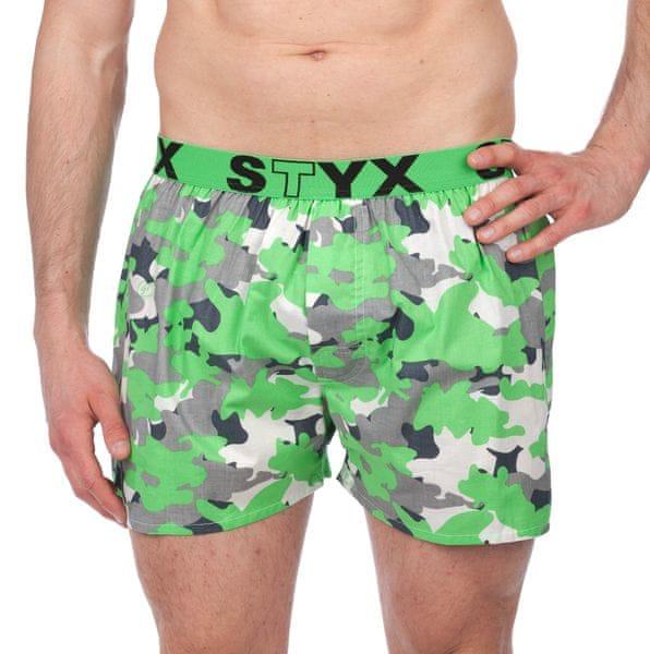 Styx pánské trenýrky M zelená