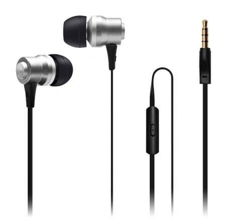 Connect IT Alu Sonics slúchadlá do uší EP-223-SL, strieborná (CI-1041)