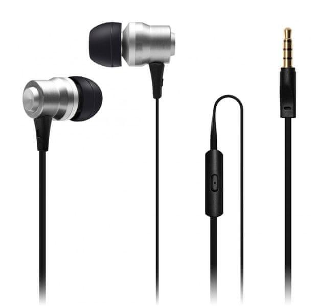 Connect IT Alu Sonics sluchátka do uší EP-223-SL, stříbrná (CI-1041)