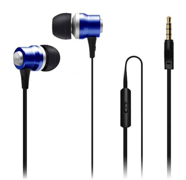 Connect IT Alu Sonics sluchátka do uší EP-224-BL, modrá (CI-1042)