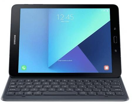 Samsung mapa z brezžično tipkovnico Galaxy Tab. s3 9.7 (EJ-FT820BSEGGB), siva