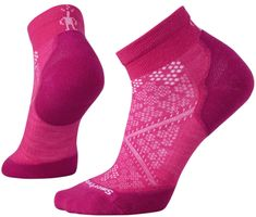 SMARTWOOL skarpetki W Phd Run Light Elite Low Cut Pink