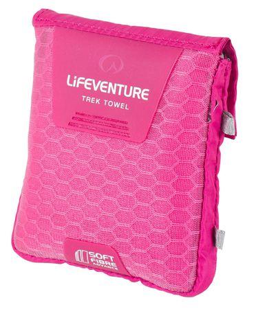 Lifeventure SoftFibre Trek Towel Advance Törölköző, Pink, M