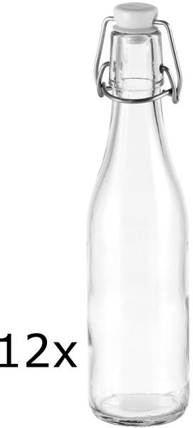 Tescoma Láhev s klipem DELLA CASA 330 ml, 12 ks